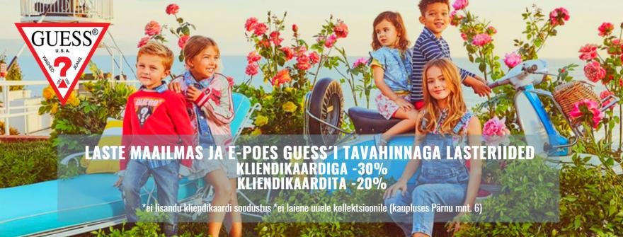 GUESS´i lasteriiete hooaja allahindlus -30%  (10 juuli)